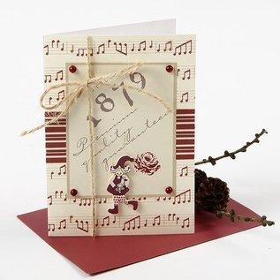 Karten und Scrapbooking Papier, Papier blöcke Mooie designer papier, aan beide zijden bedrukt, 30.5x30.5 cm, 5 vel, 120gr.