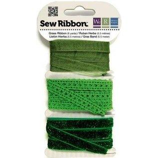 DEKOBAND / RIBBONS / RUBANS ... Assortiment lint greens