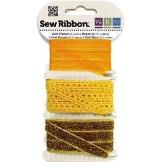 DEKOBAND / RIBBONS / RUBANS ... Dekoband assortiment geel-oranje-goud