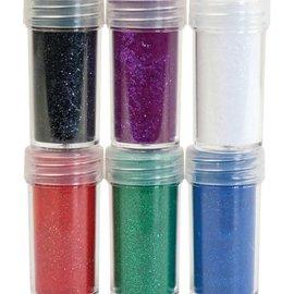 BASTELZUBEHÖR, WERKZEUG UND AUFBEWAHRUNG Velvet powder, 6 different color