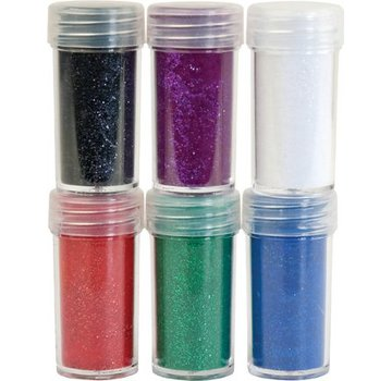 BASTELZUBEHÖR, WERKZEUG UND AUFBEWAHRUNG Velvet pulver, 6 forskellige farver