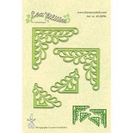 Leane Creatief - Lea'bilities und By Lene Lea'bilitie, stempelen en embossing sjablonen, op de hoek met bladeren