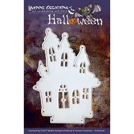 Yvonne Creations Ponsen en embossing sjabloon, Yvonne Creations - Halloween - Huis