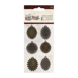 Embellishments / Verzierungen Metal Charms (6 stuks) - Madame Payraud
