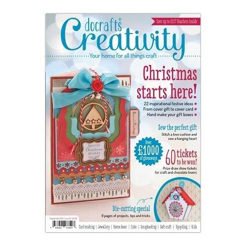 Bücher, Zeitschriften und CD / Magazines magazine, Créativité Magazine - Numéro 50 - Septembre 2014 + des Extras pour l'artisanat