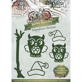 Yvonne Creations Stamping and embossing templates, 2 Sweet Owl with Hat