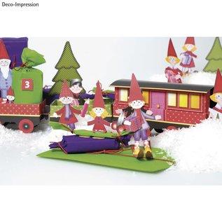 Kinder Bastelsets / Kids Craft Kits Weihnachtsdeko basteln: Komplettes Bastelset für einen Weihnachtszug!