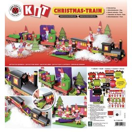 Kinder Bastelsets / Kids Craft Kits Kit de Noël train Artisanat, 1 locomotive, une voiture 6, déco et la famille de gnome