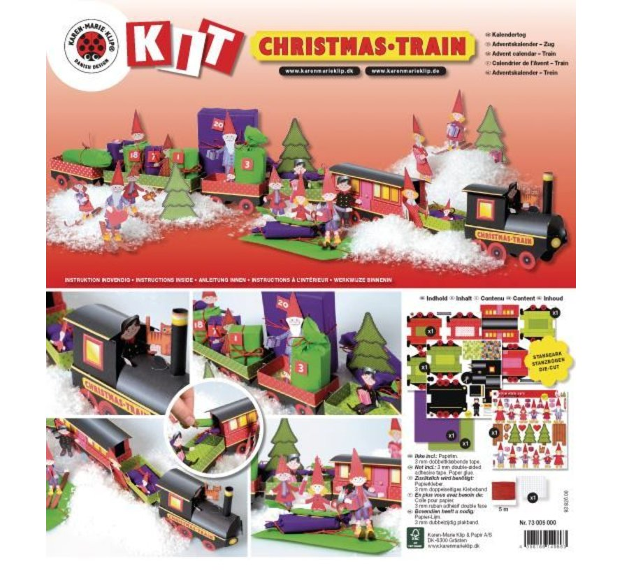 Douglas Weihnachtsdeko.Christmas Train Craft Kit 1 Locomotive Carriage 6 Deco And Gnome