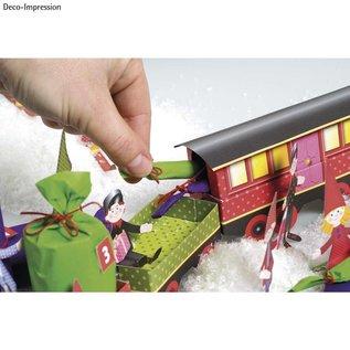 Kinder Bastelsets / Kids Craft Kits Complete set voor een trein met extra kerstversiering!