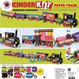 Kinder Bastelsets / Kids Craft Kits Kit de Train Artisanat, 1 locomotive, une voiture 6, déco et la famille de gnome