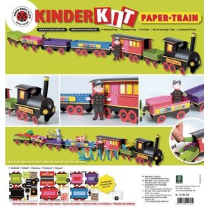 Kinder Bastelsets / Kids Craft Kits Train Craft Kit, 1 locomotive, carriage 6, deco and gnome family