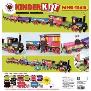 Kinder Bastelsets / Kids Craft Kits Trein Craft Kit, 1 locomotief, een rijtuig 6, deco en gnome familie