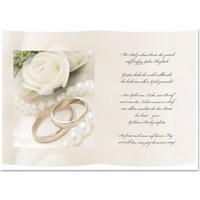 1 Blatt Transparentpapier,  A5, mit Gedicht zur Goldenen Hochzeit