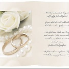 Karten und Scrapbooking Papier, Papier blöcke 1 Blatt Transparentpapier,  A5, mit Gedicht zur Goldenen Hochzeit