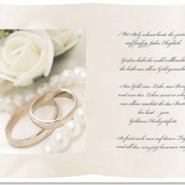 Karten und Scrapbooking Papier, Papier blöcke 1 foglio di carta da lucido, A5, con Golden Wedding Poem