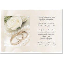 Karten und Scrapbooking Papier, Papier blöcke 1 feuille de calque, A5, avec poème de mariage doré