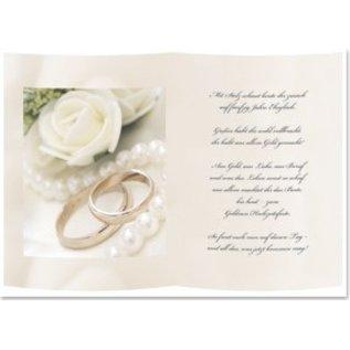 Karten und Scrapbooking Papier, Papier blöcke 1 vel overtrekpapier, A5, met Gouden huwelijksgedicht