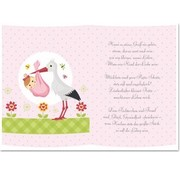 REDDY 5 gennemsigtige papirer, ark A5, digte fødsel pige
