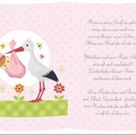 REDDY 5 transparante papieren, vel A5, gedichten geboorte meisje