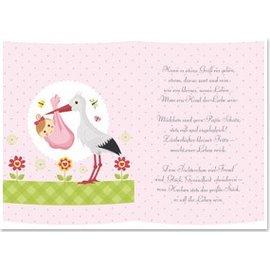 REDDY 5 gjennomsiktig papir, ark A5, dikt fødsel jente