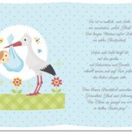 BASTELZUBEHÖR, WERKZEUG UND AUFBEWAHRUNG 5 Transparant papier, vel A5, gedichten geboorte jongens