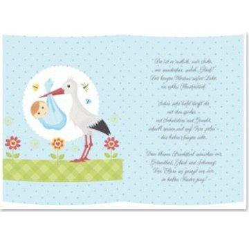 BASTELZUBEHÖR, WERKZEUG UND AUFBEWAHRUNG 5 Transparent papers, sheet A5, poems birth boys