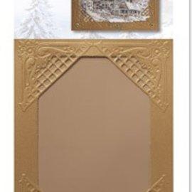 KARTEN und Zubehör / Cards 3 Hiver satin cartes d'or