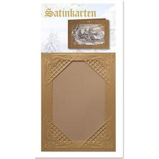KARTEN und Zubehör / Cards 3 Winter sateng gullkort