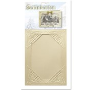 KARTEN und Zubehör / Cards 3 carte crema Inverno raso