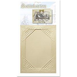 KARTEN und Zubehör / Cards 3 cartes de crème hiver satin