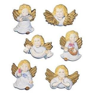 Modellieren Mallen Cherubs Engelen, 6 stuks