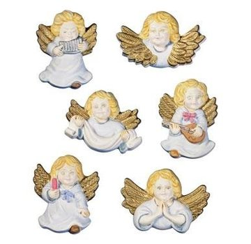 GIESSFORM / MOLDS ACCESOIRES Stampi putti angeli, 6 pezzi