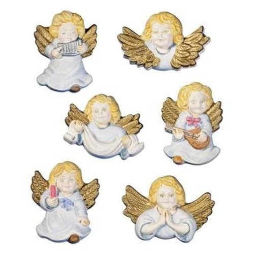 GIESSFORM / MOLDS ACCESOIRES Molds cherubs angels, 6 pieces