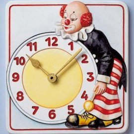GIESSFORM / MOLDS ACCESOIRES Mold, orologio pagliaccio, 15,5 x 17cm, con un orologio e puntatori