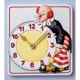 Modellieren Mold, clock clown, 15.5 x 17cm, with clockwork and pointers