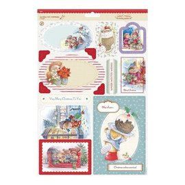 Docrafts / Papermania / Urban Toppers A4 Die-cut (2P) - Souhaits d'hiver