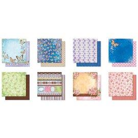 Designer Papier Scrapbooking: 30,5 x 30,5 cm Papier Designer blokk, Premium Glitter utklippsbok papir, 30,5 x 30,5 cm