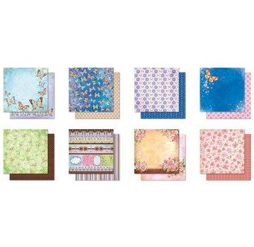 Designer Papier Scrapbooking: 30,5 x 30,5 cm Papier Designer blok Premium Glitter Scrapbog Papir, 30,5 x 30,5 cm