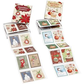 Sticker Temmelig takkede mærkat, størrelse 25x33 mm, 36 ordre, jul motiv