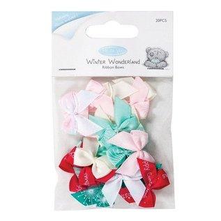 Embellishments / Verzierungen 20 Mini Bows, Ribbon Bows (20st)