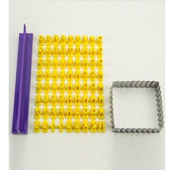 PATCHY Fragmentarisch siliconenvorm - Prägebuchstaben Set