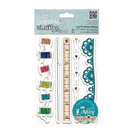 Docrafts / Papermania / Urban Rubber stamp, Stamp Urban, motives to sewing