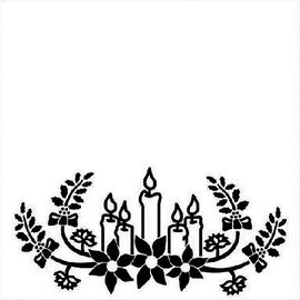 embossing Präge Folder Goffratura 130x130mm Folder - Candele di Natale