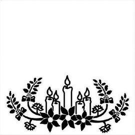 embossing Präge Folder Gaufrage 130x130mm Dossier - bougies de Noël