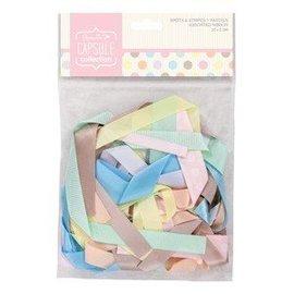 DEKOBAND / RIBBONS / RUBANS ... various decorative ribbons pastel shades, 20