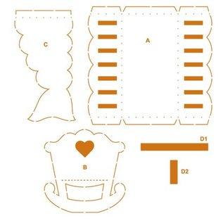 Dekoration Schachtel Gestalten / Boxe ... Verpakkingssjabloon, 30,5 x 30,5 cm, kinderwagen - LAATSTE!