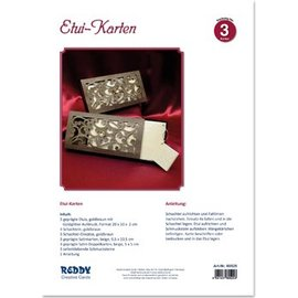 BASTELSETS / CRAFT KITS Crafting kit til 3 edle etui kort med instruktioner - LAST SET!