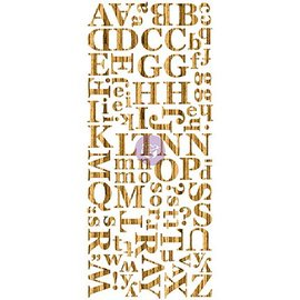 Prima Marketing und Petaloo Wood Veneer Alphabets Dark, holzes Alfabet