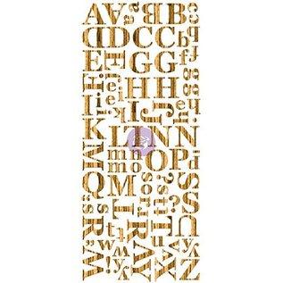 Prima Marketing und Petaloo Wood Veneer Mørk alfabetet, alfabetet i tre, 106 stykker